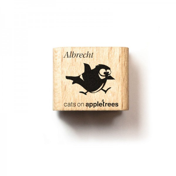 cats on appletrees Ministempel Meise Albrecht