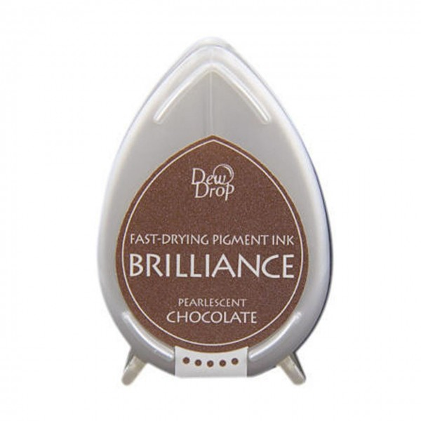 DewDrop Pigment Ink Brilliance pearlescent chocolate