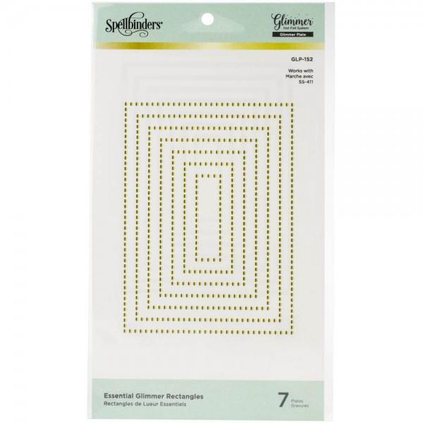 Spellbinders Hot Foil Plate - Essential Glimmer Rectangles