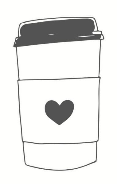 May & Berry Holzstempel - Kaffeebecher