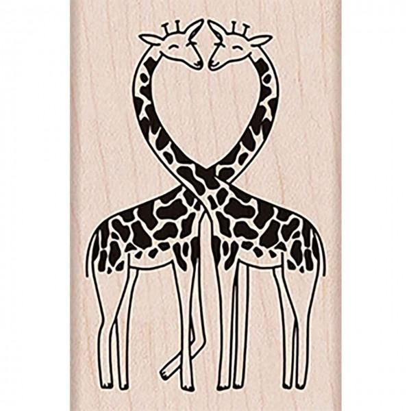 Hero Arts Holzstempel loving giraffes