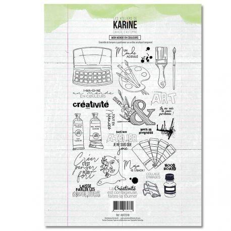 Les Atelier de Karine Cahier D`Automne Clearstempelset - Mon Monde en Couleurs
