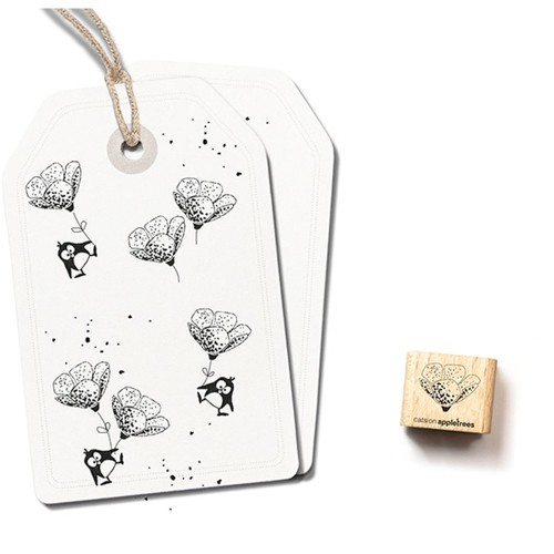 cats on appletrees Ministempel Blüte 12