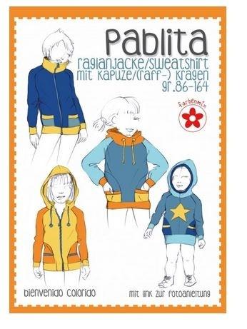 Bienvenido colorido Pablita Schnittmuster Raglanjacke/Sweatshirt