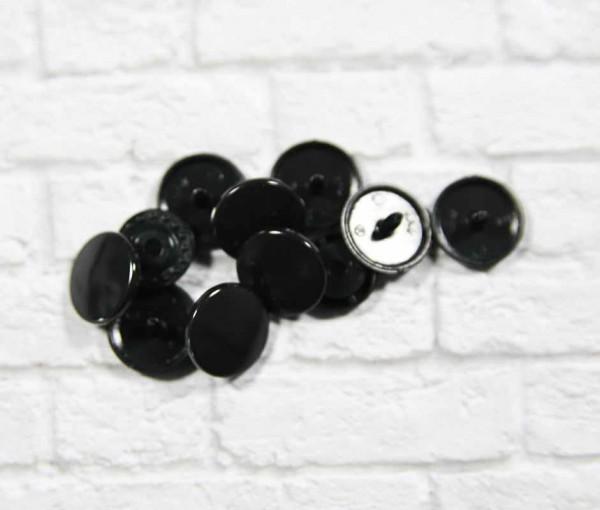 Kam Snap Druckknöpfe glänzend schwarz