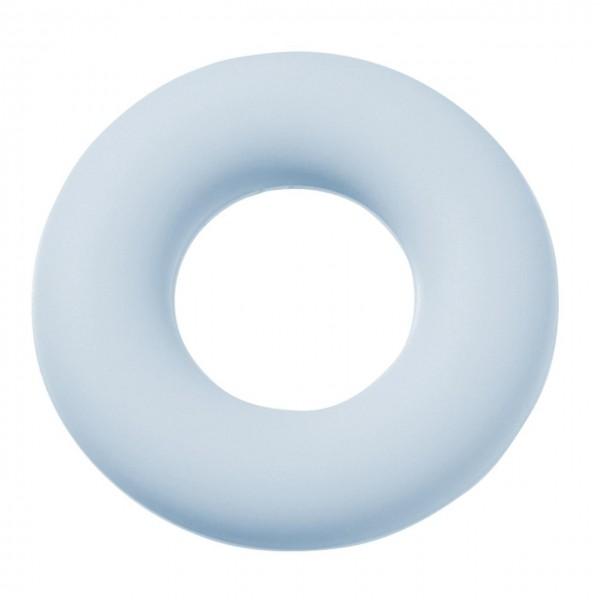 Schnulli-Silikon Ring hellblau