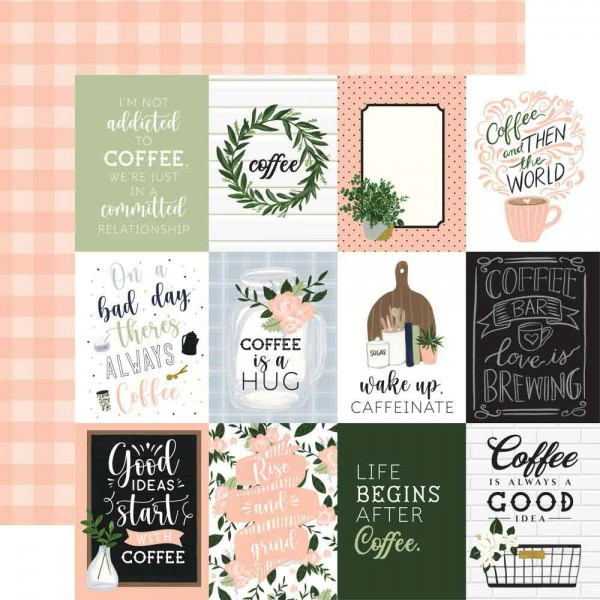 Echo Park Paper - Coffee & Friends - 3x4 Journaling Cards