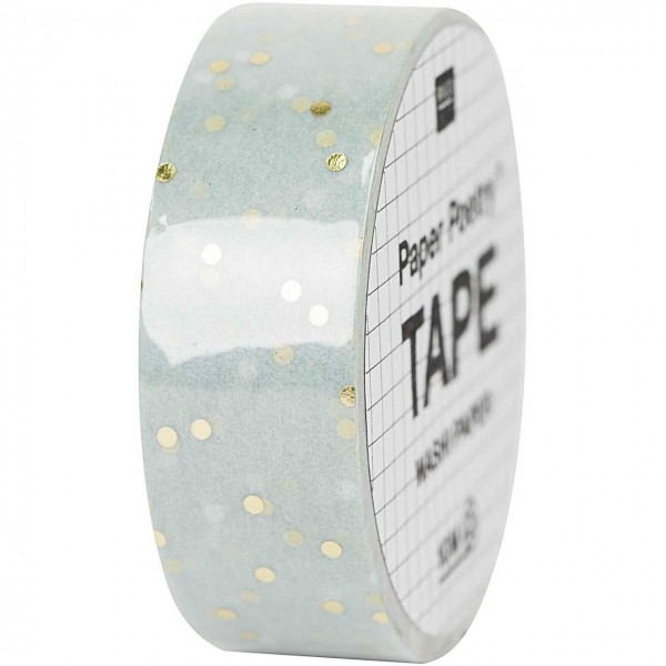Rico Paper Poetry Tape Punkte mint/gold
