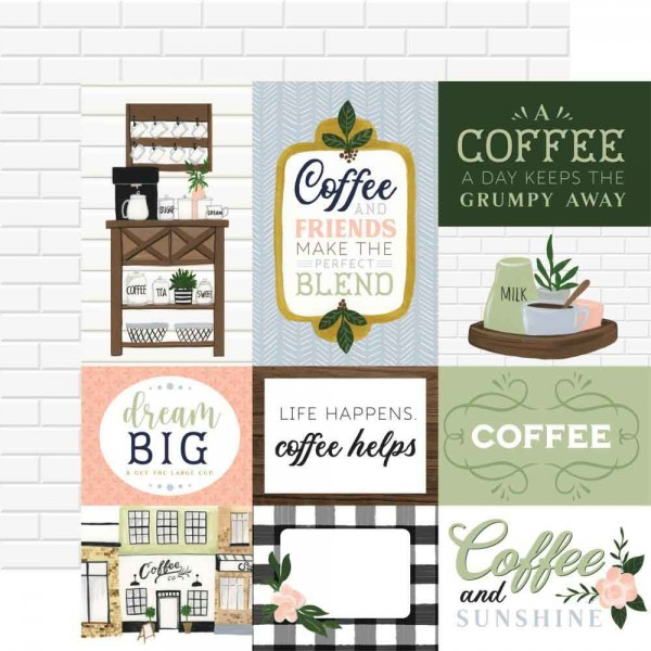 Echo Park Paper - Coffee & Friends - Journaling Cards