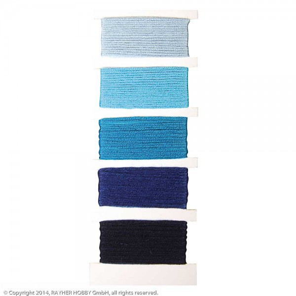 Baumwoll- Garn Stitch & Knot echtblau
