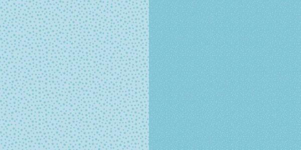 Dini Design Papier kleine Punkte/Blumen Lagunenblau