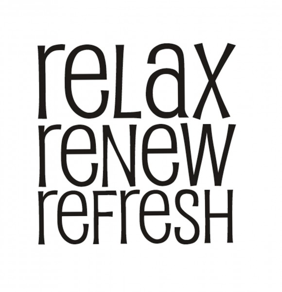 Rayher Holzstempel relax, renew, refresh