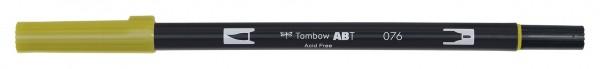 Tombow Dual Brush Pen - Green Ochre - Grün Ocker