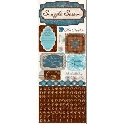 Bo Bunny Snowfall cardstock stickers