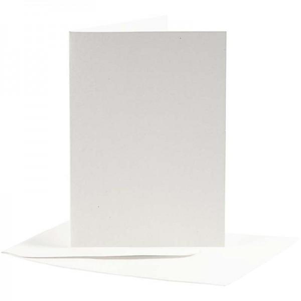 Kartenset Büttenpapier 10,5 x 7,5 cm