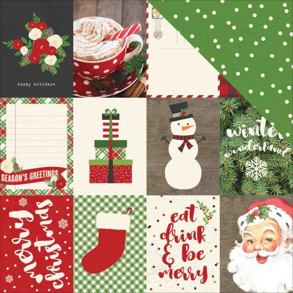 Simple Stories Very Merry 3 x 4 journaling card elements