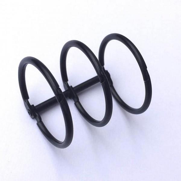 3-er Bindering schwarz 30 mm