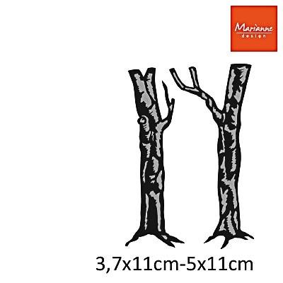 Marianne Design Craft Tables Steeldie Birch Trees