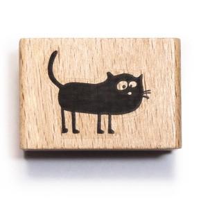 cats on appletree Holzstempel Katze Friedegunde