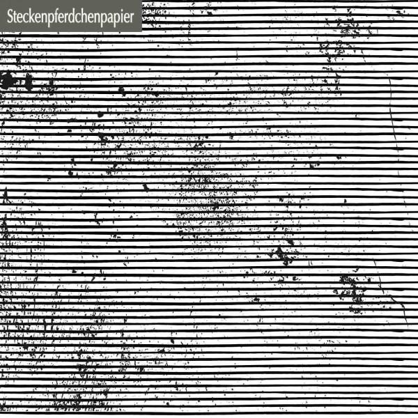 Steckenpferdchenpapier schmale Streifen schwarz