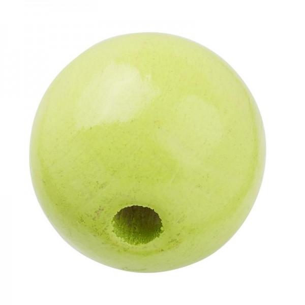 Schnulli Holzperlen 12 mm lemon