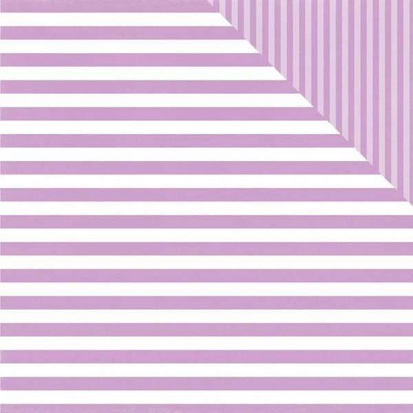 Echo Park Paper dots&stripes grape stripe