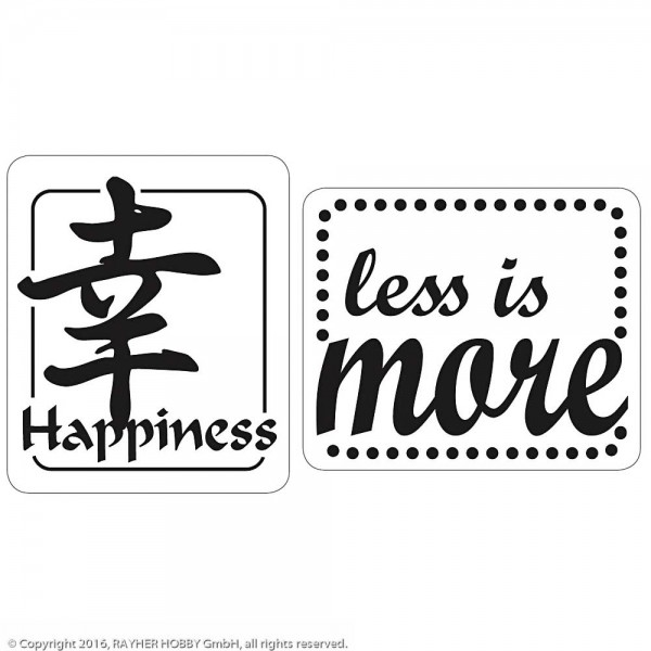 Rayher Labels GB Happiness/less is more