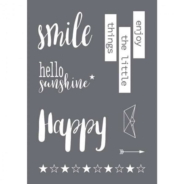 Rayher Siebdruck-Schablone Smile A4