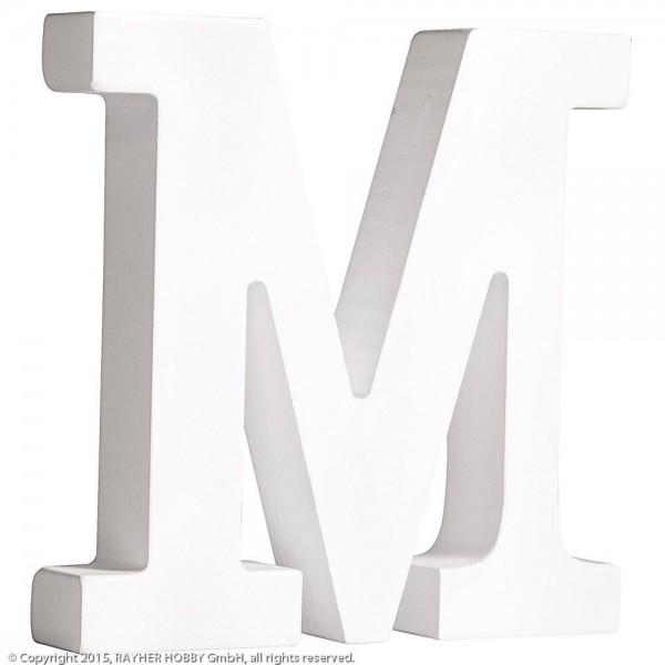 MDF- Buchstabe M, weiß
