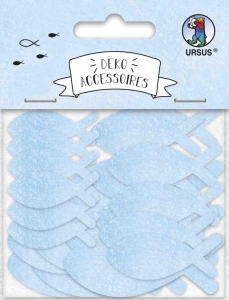 Ursus Deko Accessoires Papier Fische hellblau