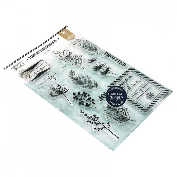 Florileges Clearstempel Set Oh Winter - Poesie D`Hiver