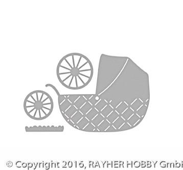 Rayher Stanzschablone Baby Kinderwagen