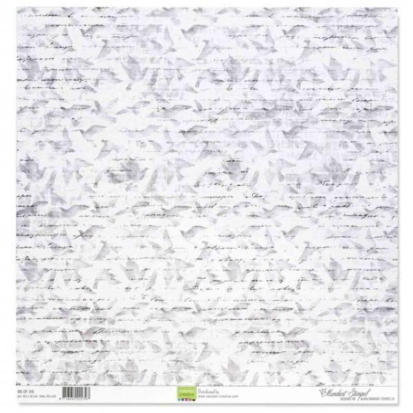Mundart Designerpapier Tauben