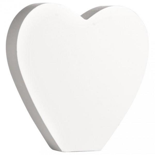 MDF- Symbol Herz, weiß