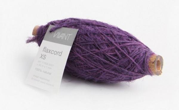 Jute flaxcord Kordel violett