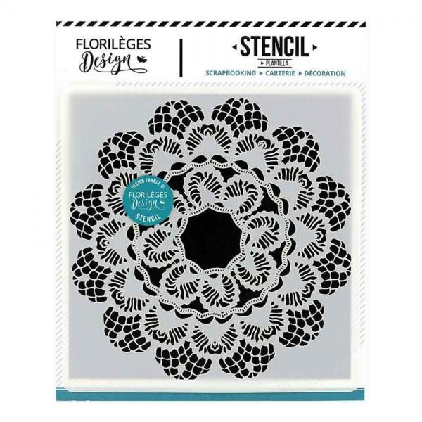 Florileges Stencil Pochoir Dentelle
