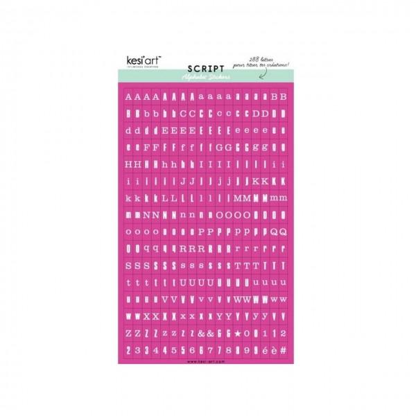 Kesi Art Script Alphabet Stickers fuchsia