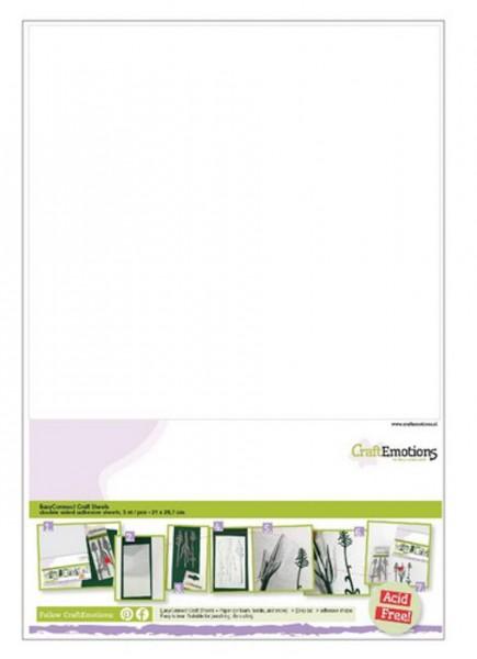 5 Craft Sheets, doppelseitige Klebeblätter A4