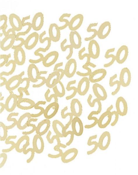 Jubiläums-Pailletten gold 50