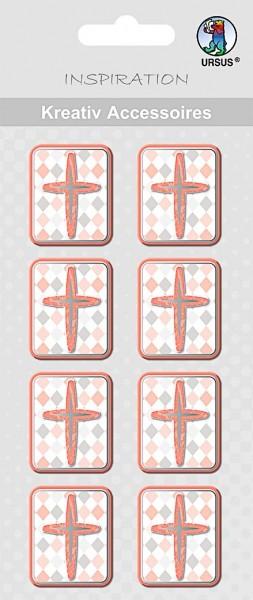 Kreativ Accessoires Jesus Orange Kreuze