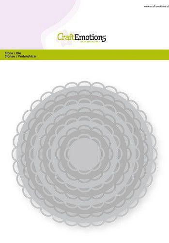Stanzdie Set - Circles Scallop XL open