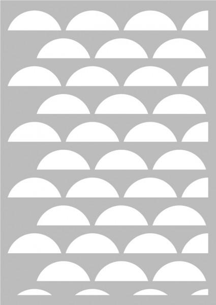 Artemio Schablone A3 Scandisweet demi cercles