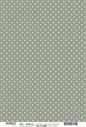 Reprint Basic Collection vintage green Stars