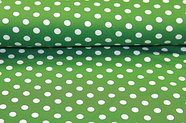 Jerseystoff Vicente grün getupft