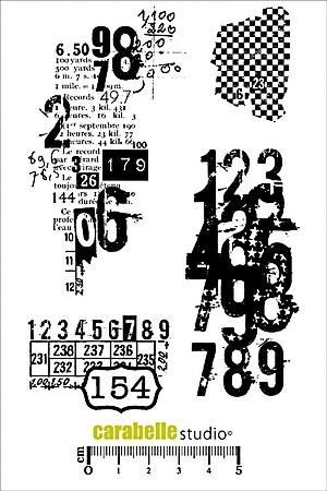 Carabelle Studio art stamp textures avec des chiffres