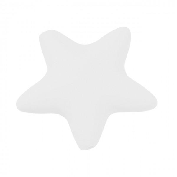 Schnulli-Silkon Stern weiß