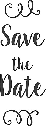 Heyda Holzstempel Save the Date