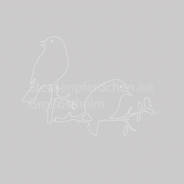 Steckenpferdchenstanze Vogelset auf Ästen