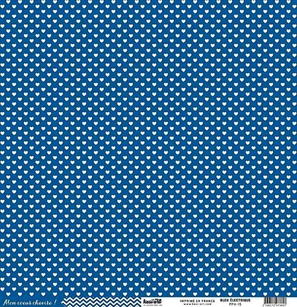 Kesi Art Mon coeur chavire Herzen blau