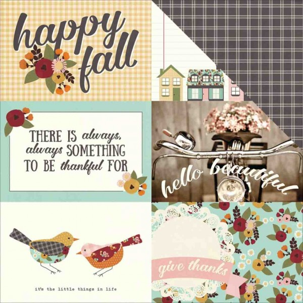 Simple Stories Vintage Blessings 4 x 6 horizontal elements